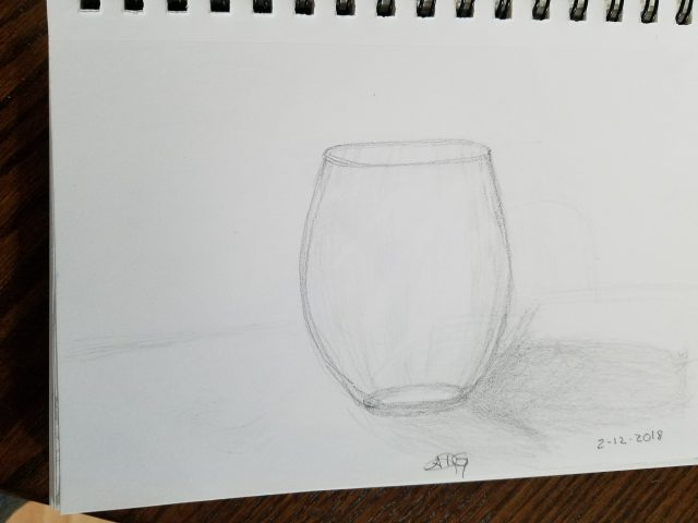 Glass Graphite Sketch
