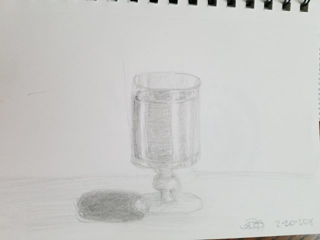 Port Glass Graphite Sketch