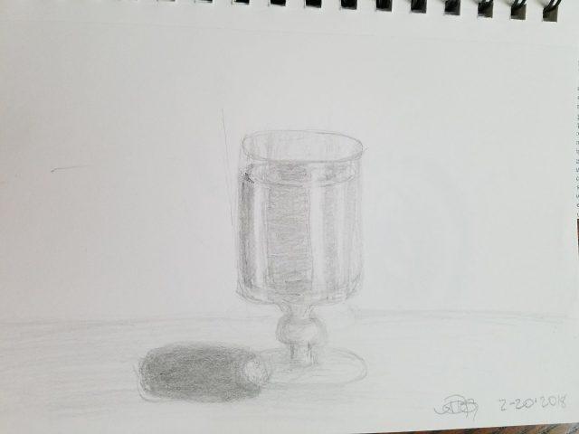 Port Glass Graphite Sketch