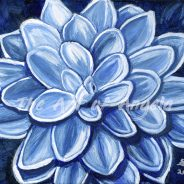 Cool Blue Dahlia